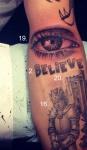 justin bieber tattoo 19 20