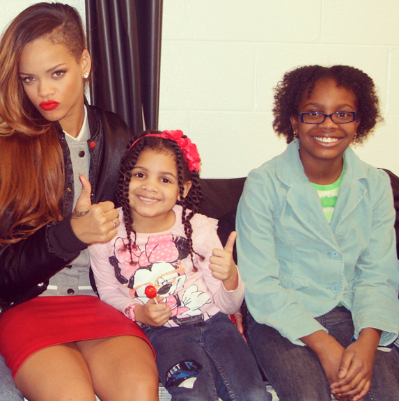 Rihanna And Her Adopted Daughter Rihanna Has A Daughter...