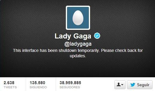 lady gaga cierra el twitter