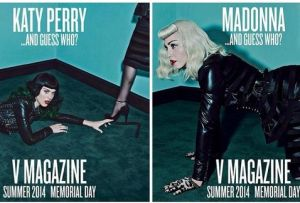 v magazine katy perry madonna